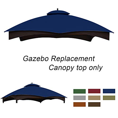 ABCCANOPY Gazebo Replacement Top 10'x12' for Lowe's 10' x 12' Gazebo Model #GF-12S004BTO/GF-12S004B-1(Navy Blue)