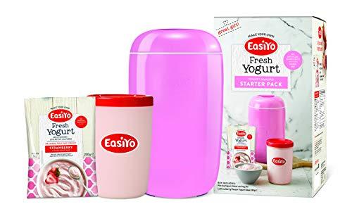 EasiYo Joghurt Maker (1 kg) Starter-Pack | inkl. Erdbeer-Joghurt EasiYo Beutel
