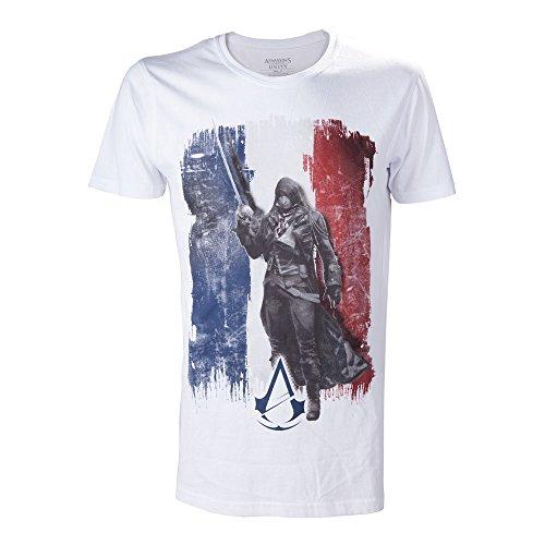Assassin's Creed Unity T-Shirt für Herren (weiß) weiß weiß Größe S