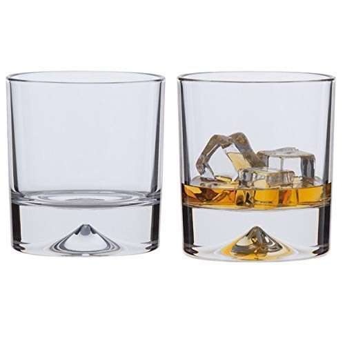 Dartington Crystal - Handmade Old Fashioned Dimple Tumbler, Set of 2 x 330ml