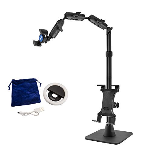 Arkon Remarkable Creators Phone and Tablet Stand with Ring Light Bundle Retail Black