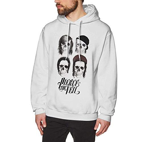 Eanijoy Beiläufiges langärmliges mit Kapuze Sweatshirt Pierce The Veil Sweatshirts for Men Hoodies White