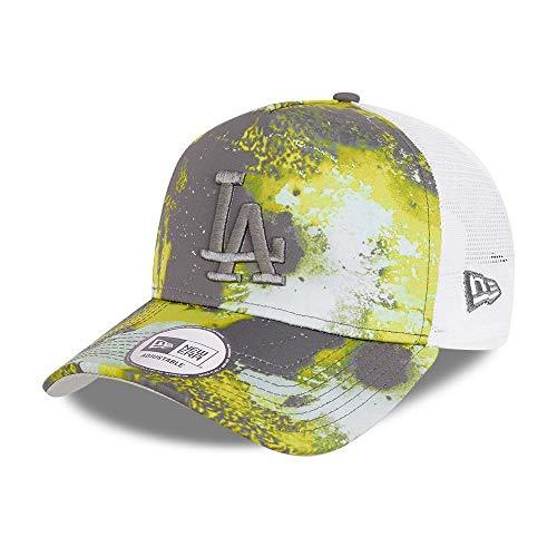 New Era Los Angeles Dodgers A-Frame Adjustable Trucker Cap Verstellbar Kappe Basecap MLB Seasonal Gelb Weiß - One-Size