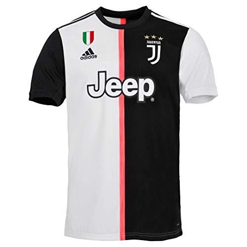 JUVE Juventus Maglia Home - Stagione 2019/2020 - Personalizzata con Nome e Numero Giocatore - Uomo - Ronaldo Dybala Chiellini - Scegli Prima la Taglia (Taglia S)