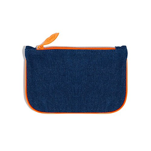 Ipsy February 2017 Blue Denim Zippered Makeup Cosmetics Bag
