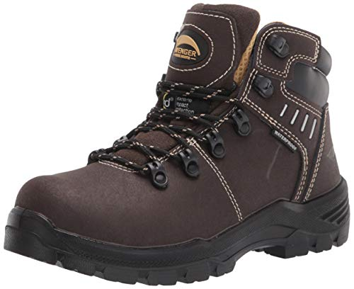 FSI Avenger Women's Foundation Carbon Toe Met Guard EH Puncture-Resistant Waterproof Work Boot, Brown, 7 Wide