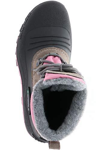 SPIRALE Damen Winterstiefel Snowboots schwarz/braun/rosa, Größe: 39 Farbe: Rosa - 7