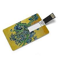 ヴァンゴッホの作品「ルスの花」 カードタイプUSBフラッシュドライブ、コンピューター/ラップトップ用のメモリースティック、映画/写真/ドキュメント/音楽32G、64G用のサムドライブデータストレージ