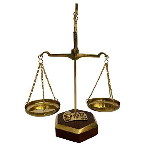 aubaho Waage Feinwaage Goldwaage Balkenwaage Messing Apothekerwaage 17cm Antik-Stil