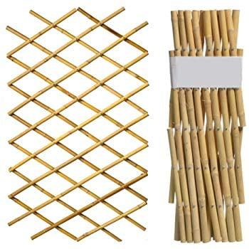 A2Z Home Solutions Real Expandable Bamboo Poles Trellis - Outdoor Garden Ideal for Climbing Plants, Flowers and Vegetables Screening Fences Dividers (60 x 180 cm) 2ft x 6ft