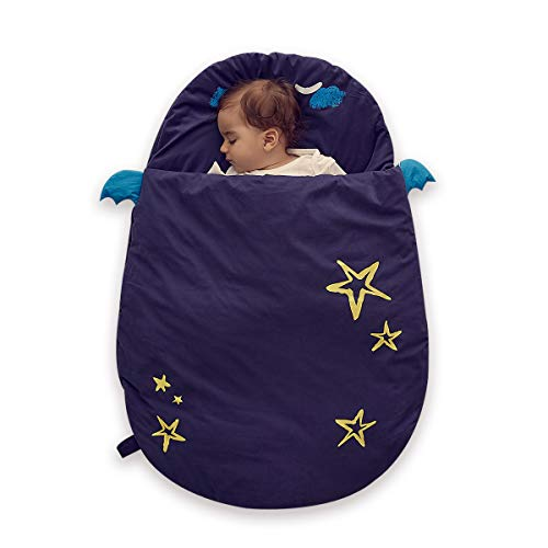 Bebamour Anti Kick Babyschlafsack Safe Nights Cotton Babyschlafsack 2,5 Tog 0-18 Monate und lter Cute Infant Boy Girls Schlafsack Baby Wickeldecke (Blau)