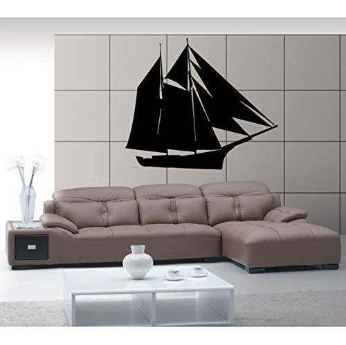 Mrlwy Schiff Yacht Boot Kiel See Ocean Marine Wandbild Wandkunst Dekor Vinyl Aufkleber 56x56 cm