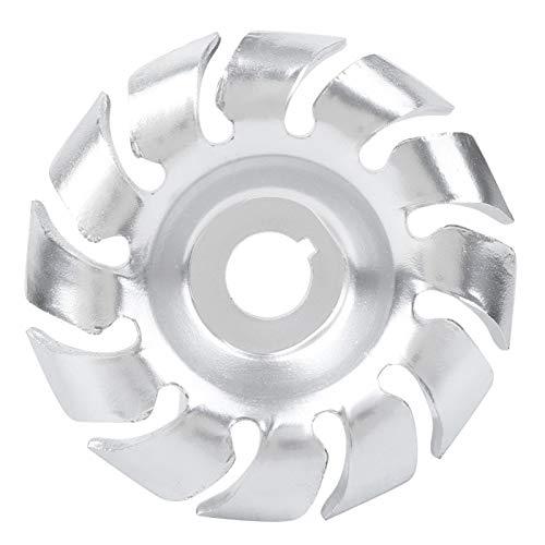 Disco per lucidatura - Disco per lucidatura a 12 denti da 90 mm Ruota d'argento Utensile per intaglio del legno in acciaio al manganese per smerigliatrice angolare