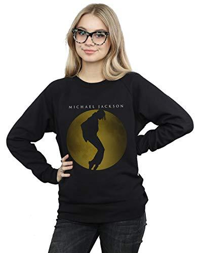 Absolute Cult Michael Jackson Damen Moon Circle Sweatshirt Schwarz Small
