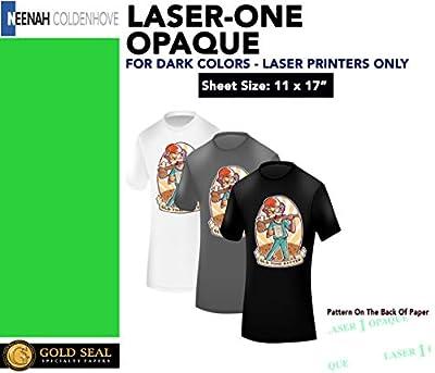 "LASER TRANSFER PAPER FOR DARK FABRIC: NEENAH""LASER 1 OPAQUE"" (11""x17"") 25Pk :)"