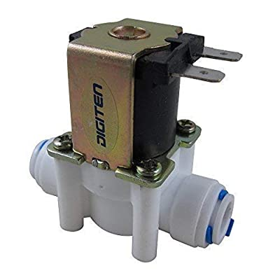 "DIGITEN 24V 3/8"" Water Solenoid Valve Inlet Feed Quick Connect for RO Reverse Osmosis System by DIGITEN"