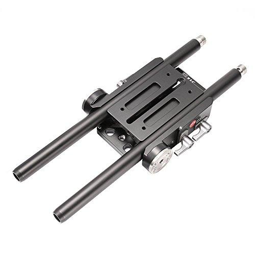 JTZ DP30 Universal Quick Release QR Baseplate 15mm Rod Rig for Follow Focus Matte Box Canon 5D Mark III A7 II GH4/5/5S FS5 FS7 Blackmagic URSA Mini BMPCC 4K,Compatible with VCT-U14,Arri Rosette Mount