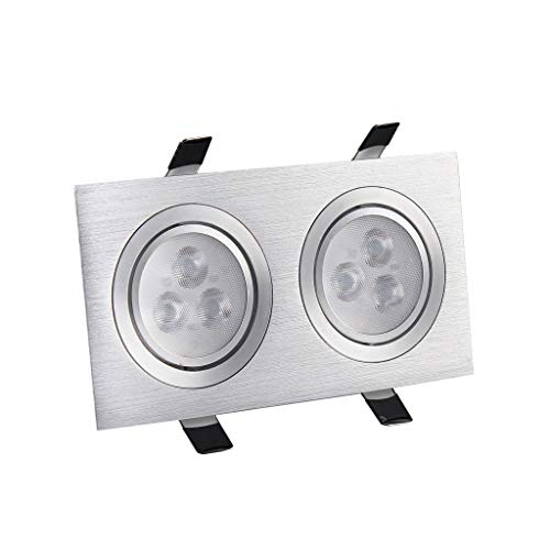 LSZ Doble Cabezal/Foco/Led/Rejilla/Cilindro Doble/Rectangular/Downlight/Pasillo/Techo/Lámpara atrevida/Integrado/Bean Gall Light / 10x20 Iluminación empotrable