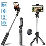 Ae Mobile Accessories Selfie Stick Tripod Bluetooth Extendable Selfie Stick with Wireless Remote
