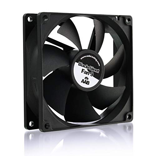AABCOOLING Black Silent Fan 9 - Leise und Efizient 92mm Gehäuselüfter mit 4 Anti-Vibration-Pads - CPU Kühlung, Ventilator 12V, Prozessor Kühler, Lüfter PC 21 dB (A)