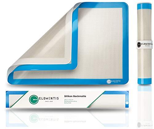 ELEMENTIS Silikon Backmatte als 2- in-1 Antihaft Backwunder I Innovative Dauerbackfolie für Backofen & wiederverwendbares Backpapier für jede Küche & Backofen | Perfekt für den jeden Haushalt