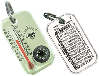 Sun Company LumaGage - Zipperpull Compass & Thermometer | Easy-to-Read Outdoor Thermometer and Compass