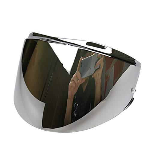 LS2 FF399 Valiant Cascos Visera Casco Con Pin (Chrome Silver)