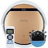 ZACO Robot aspirador y fregasuelos V5sPro con mando a distancia, Aspiradora y fregadora inteligente 2en1 para suelos duros, madera, parquet y alfombras, Aspiradoras para perros y pelos de mascotas