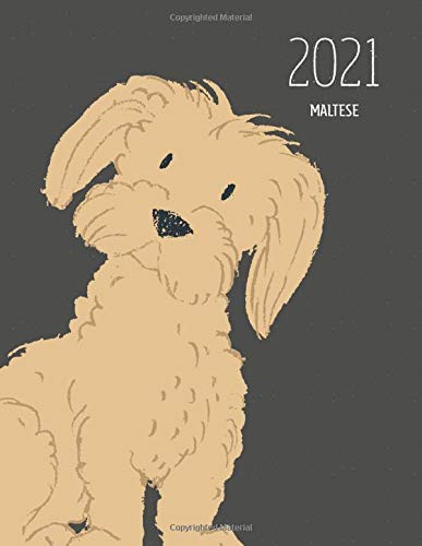 2021 Maltese: Dated Weekly Planner With To Do Notes & Dog Quotes - Maltese Brown (Awesome Calendar Planners for Dog Owners Dark)