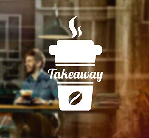 Café taza de tomar muestra de adhesivo de vinilo gráficos Cafe tienda salón Bar restaurante