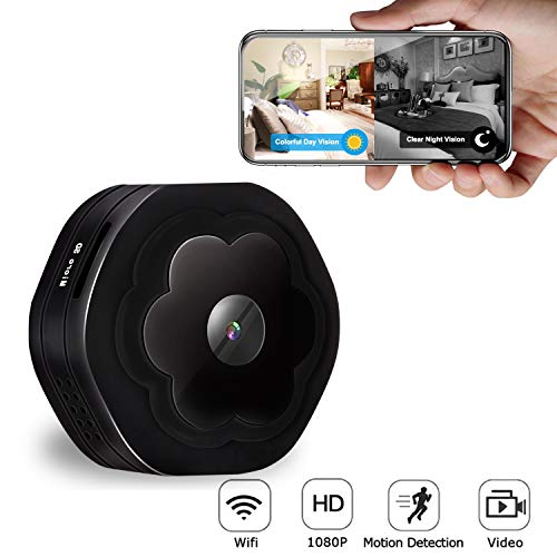Hidden Spy Camera WiFi,Wireless Mini Spy Camera HD 1080P Security Camera for Home,Small Portable Nanny Cam with Night Vision Motion Detection, iOS/Android APP Remote View