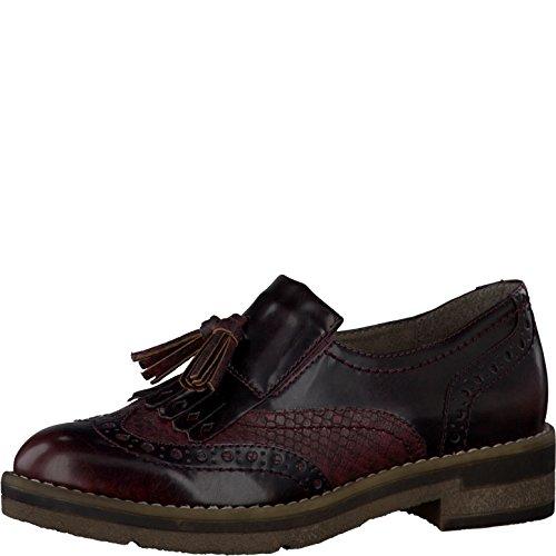 Tamaris Damenschuhe 1-1-24608-27 Damen Slipper, Mokassin, Halbschuhe rot (Bordeaux Comb), EU 39