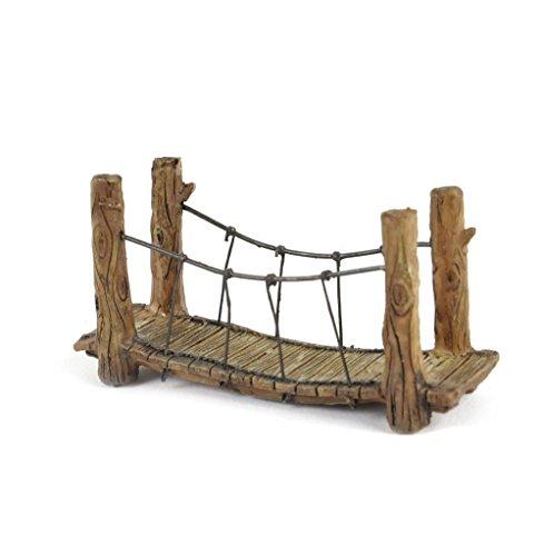 Woodland Suspension Rope Fairy Bridge - Fiddlehead Fairy Garden Collection