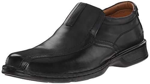 Clarks Men's Escalade Step Slip-on Loafer- Black Leather 9.5 D(M) US