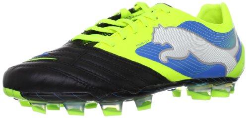Puma PowerCat 1 FG 102778, Herren Fußballschuhe, Schwarz (black-fluo yellow-white-brilliant blue 05), EU 44.5 (UK 10) (US 11)