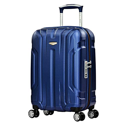Eminent Hand Luggage X-TEC 55 cm 40 L Polycarbonate Hard Shell Anti-Scratch Surface 4 Double Wheels TSA Lock Blue