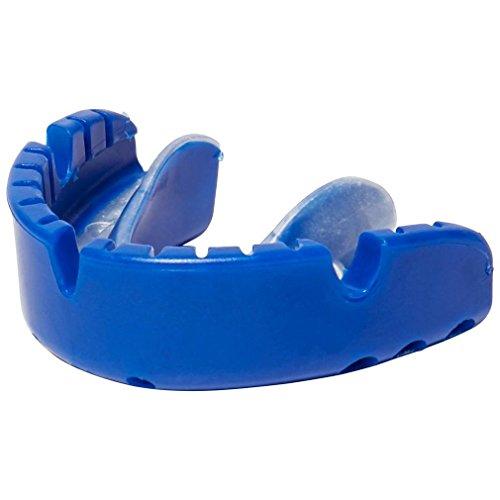 Opro Gold Mundschutz für Hosenträger Sport Hockey Schutz Blau, Blau, Einheitsgröße