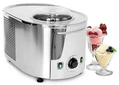 Ijsmachine Lussino MINI 4080 -ijsmachine van roestvrij staal met zelfkoelende compressor - voor frozen yoghurt, sorbet en ijs - ijsmachine - ijsmachine - professionele ijsmachine