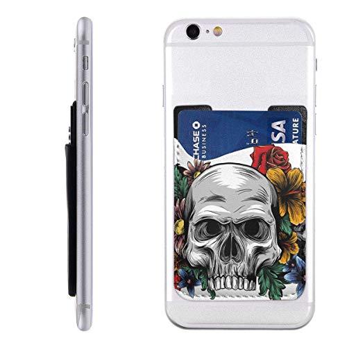 Interieur shop Mobile Card Wallet Wallet Wallet, Pocket ID Credit card hoes Human Skulls Rozen On White Background
