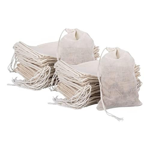 JUSTPENGHUI Coperchi da porzione della Piastra 50 Pezzi di Sacchetto di Cotone del soffitto Sacchetti di Mussola del tè Fanno Il Sacchetto di Uso Domestico