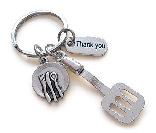School Lunch Server Spatula Thank You Keychain Appreciation Gift