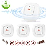 Ultrasound Repellent, Ultrasound Mouse Plug Anti Mosquito Ultrasound Anti Mice Electric Fly Repellent Repellent Device Indoor Mouse, Mosquito, Cockroach, Ant, Spider 4 Pack