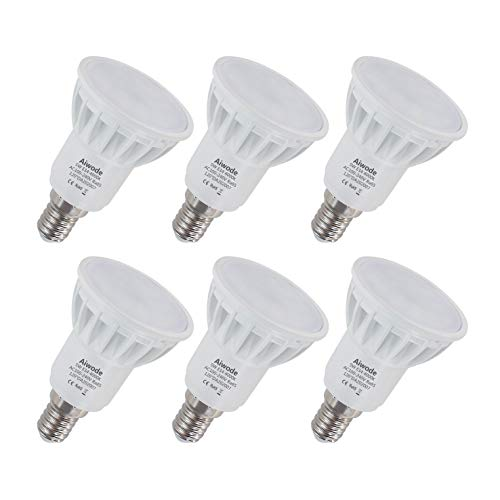 Aiwode 5W E14 LED Lampe,Naturweiß 4000K,Ersetz 50W Halogen-Glühlampe Nicht Dimmbar 500LM RA85,120°Abstrahlwinke,6er Pack.