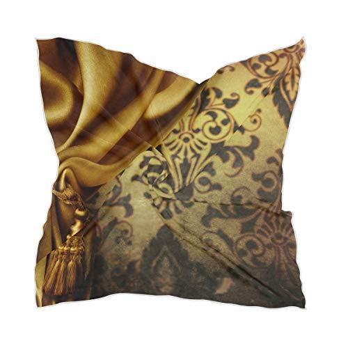 Chiffon zakdoek Lady zijden sjaal dun gouden gordijn hoofddeksel Sheer
