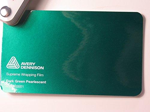 (24,82€/m2) Avery Supreme Wrapping Film Serie Dunkel Grün Pearlescent gegossene Autofolie 2000 x 152 cm Zuschnitt
