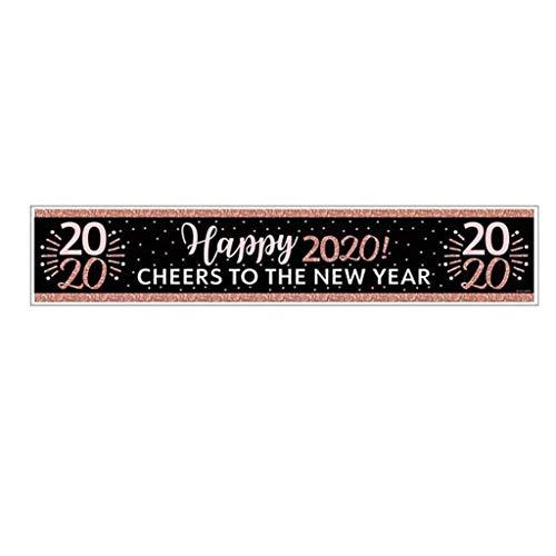 TIREOW 2020 Neujahr Veranda Zeichen Banner Tischläufer Hängende Flagge Neujahrsflagge Zuhause Bar Party Wandkunst Dekoration, 30 X 152 cm