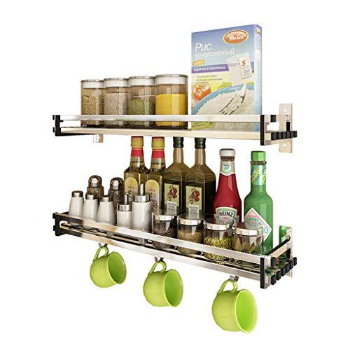 zyl 304 estantes de Acero Inoxidable para estantes de Cocina Colgantes de Pared Accesorios de Hardware de Cocina estantes de Almacenamiento (tamaño: 70 cm)
