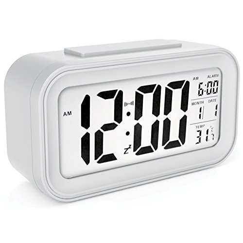 sin&mi - Alarm Clock Large LED Display Digital Alarm Clock Snooze Activated...