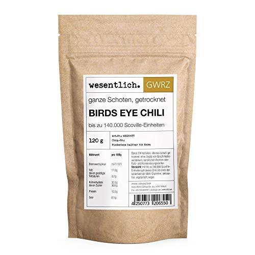 Bird`s eye Chili - 120g getrocknete ganze Schoten - auch für die Mühle geeignet