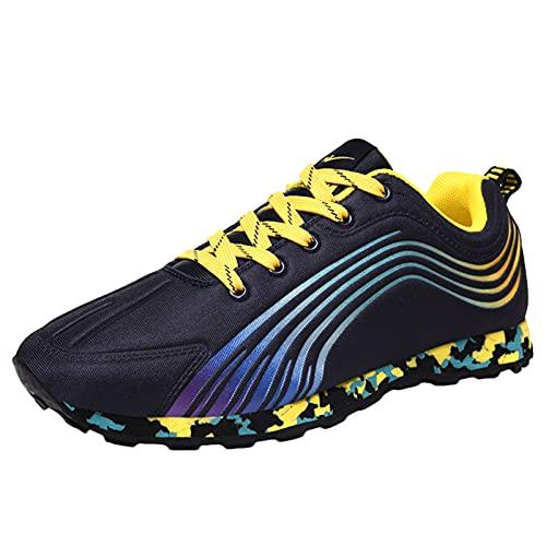 Willsky Zapatillas Para Correr Hombre Mujer Zapatillas Ligeras Para Correr En Pista Zapatillas Deportivas Antideslizantes Transpirables,Amarillo,40EU